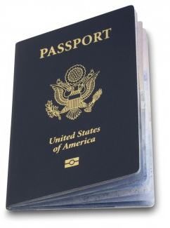 photo of a passport